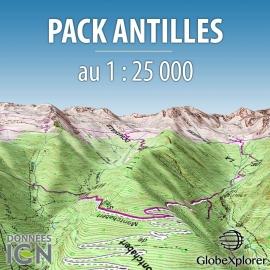 GlobeXplorer - Pack Antilles : Martinique et Guadeloupe - 1 : 25 000