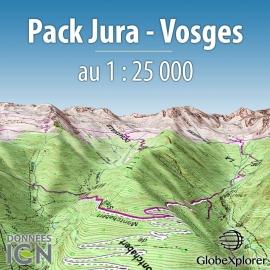 GlobeXplorer - Pack Jura-Vosges - Carte IGN au 1 : 25 000