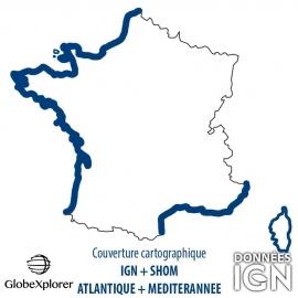 GlobeXplorer - Carte marine IGN/SHOM littoral français - 1 : 25 000