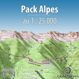 Pack Alpes - France / Suisse / Italie - 1 : 25 000 - GlobeXplorer