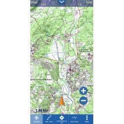Application GlobeXplorer et carte IGN de la France au 1 : 100 000