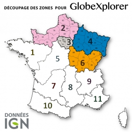 Carte IGN de la Zone 3 au 1 : 25 000 - GlobeXplorer