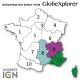 Quart de France Sud-Est 1:25 000 - GlobeXplorer