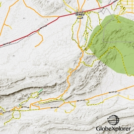 Tunisie - X-Ray GlobeXplorer - 1 : 100 000 TOPO Relief