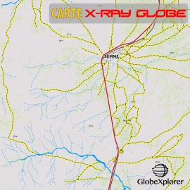 Sénégal - X-Ray GlobeXplorer - 1:30 000 TOPO Relief